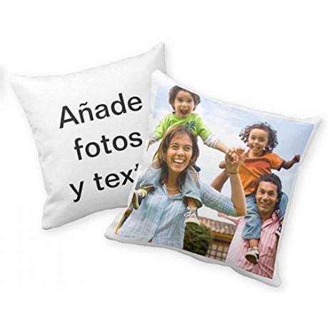 Cojín algodón personalizado con foto/texto 40x40cm