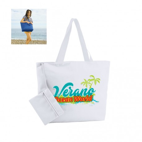 Bolsa playa con monedero personalizada