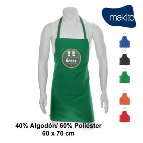 Delantal colores algodón/políester 60x70cm personalizable