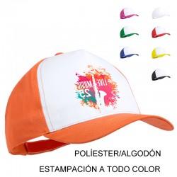 Gorra bicolor personalizada