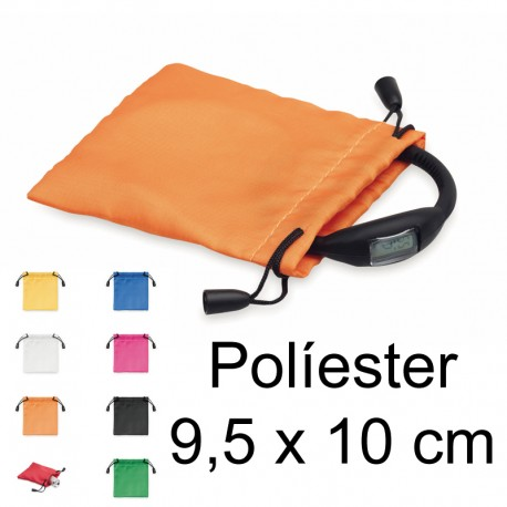 Bolsa políester 9,5x10cm con cordón