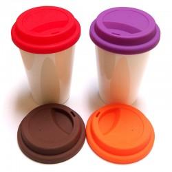Vaso cerámica con tapa silicona