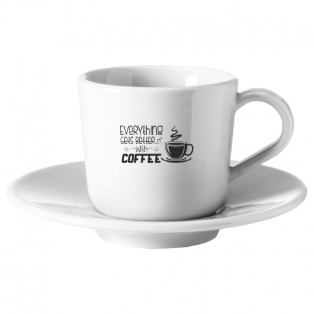 Taza blanca tipo café cerámica personalizable
