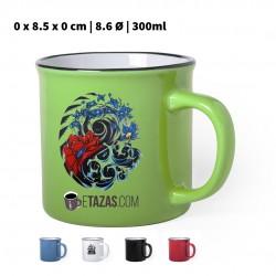 Taza color vintage personalizada