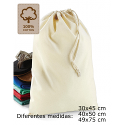 Bolsa cordón ajsutable algodón alta calidad
