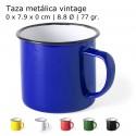 Taza metálica retro vitage de colores