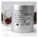 Taza personalizada plata regalo día del padre
