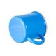 Taza personalizada metálica esmaltada vintage azul