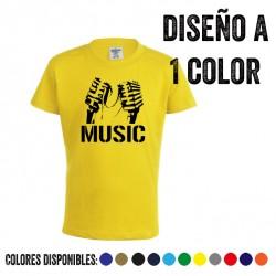 Camiseta infantil estampada a 1 color