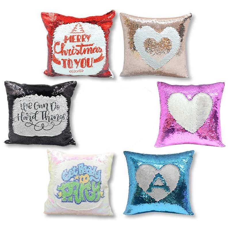 Cojineslentejuelas estampados personalizados con foto texto imagen diseño san Valentín